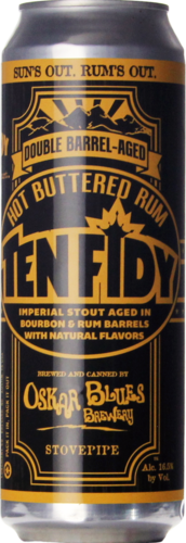 Oskar Blues Hot Buttered Rum Ten FIDY Barrel-Aged Imperial Stout