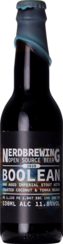 Nerdbrewing Boolean Oak Aged Imperial Stout With Toasted Coconut & Tonka Beans