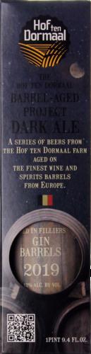 Brouwerij Hof Ten Dormaal Oak Aged Dark Gin BA 2019